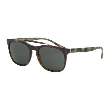 Burberry // Men's Aviators // Matte Havana + Gray Green