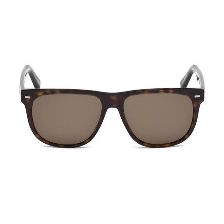Zegna // Classic Sunglasses // Tortoise + Brown