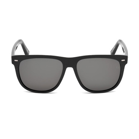 Zegna // Classic Sunglasses // Shiny Black + Gray
