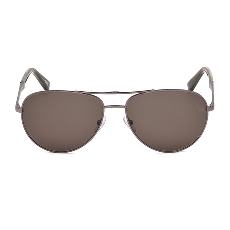 Zegna // Aviator Sunglasses // Shiny Light Bronze + Brown