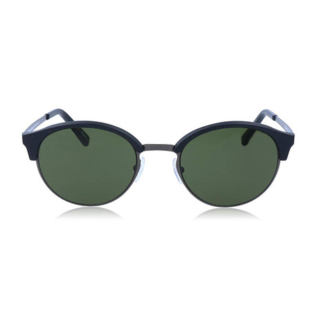 Zegna // Round Rounded Sunglasses // Black + Green