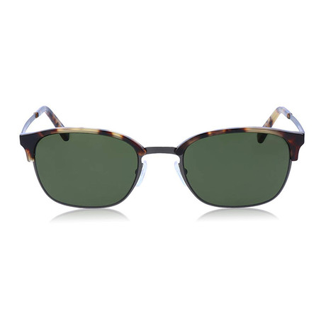 Zegna // Rounded Sunglasses // Tortoise + Green