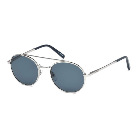 Mont Blanc // Men's Explorer Sunglasses // Shiny Palladium + Gray