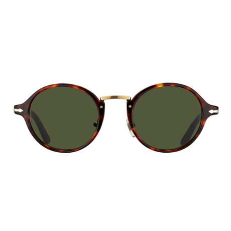 Classic Typewritter Sunglasses // Tortoise + Green