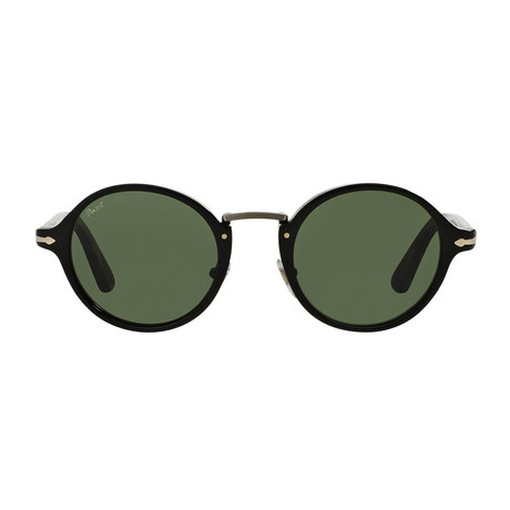 Persol // Classic Typewriter Sunglasses // Black + Green