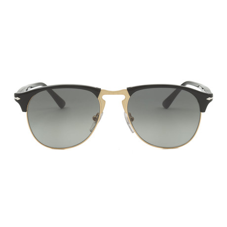 Persol Men's Classic Sunglasses // Black + Grey Gradient