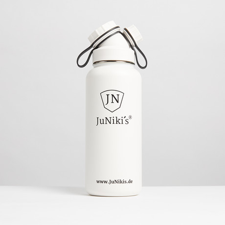 Insulated Stainless Steel Flask // 32oz // White Angel