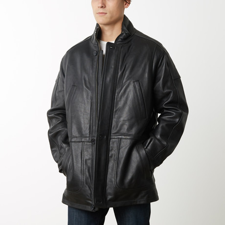 Mason + Cooper Garner Leather Parka // Black (S)