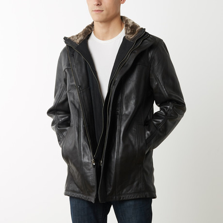 Mason + Cooper Norton Leather Jacket // Black (S)