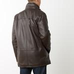 Mason + Cooper Norton Leather Jacket // Brown (S)