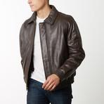 Mason + Cooper Easton Leather Bomber // Brown (S)