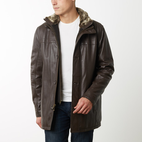 Mason + Cooper Norton Leather Jacket // Brown (S)