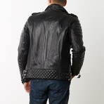 Mason + Cooper Boda Moto Leather Jacket // Black (S)