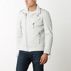 Mason + Cooper Boda Moto Leather Jacket // White (S)