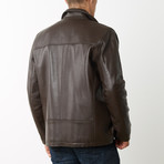 Mason + Cooper Dean Leather Jacket // Brown (S)