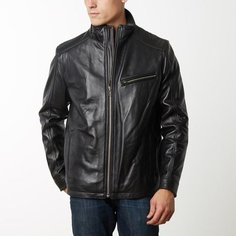 Mason + Cooper James Dean Leather Jacket // Black (S)
