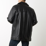 Mason + Cooper Alden Leather Jacket // Black (S)