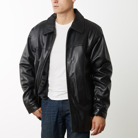 Mason + Cooper Big and Tall Leather Jacket // Black (S)