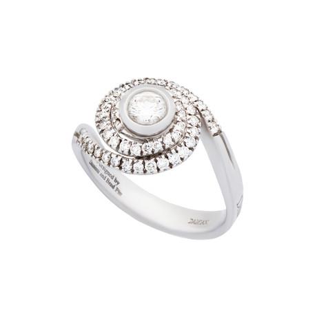 Damiani Promise 18k White Gold Diamond Ring // Ring Size: 7.25
