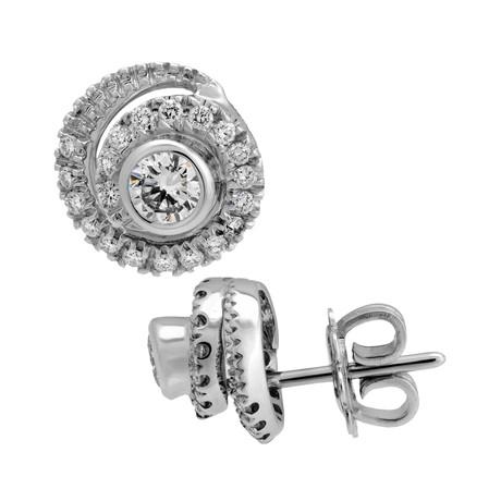 Damiani // Promise 18k White Gold Diamond Earrings
