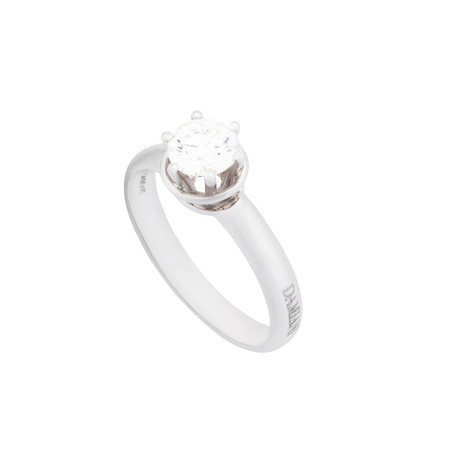 Damiani // Queen 18k White Gold Diamond Engagement Ring // Size 7