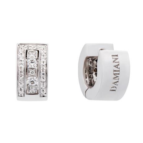 Damiani // Belle Epoque 18k White Gold Diamond Earrings