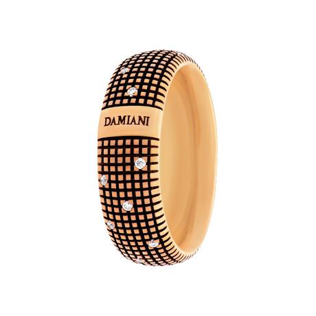 Damiani // Metropolitan 18k Rose Gold Diamond Ring (Size: 6)
