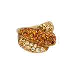 Damiani Gomitolo 18k Yellow Gold Yellow Sapphire + Citrine Ring // Ring Size: 7.5