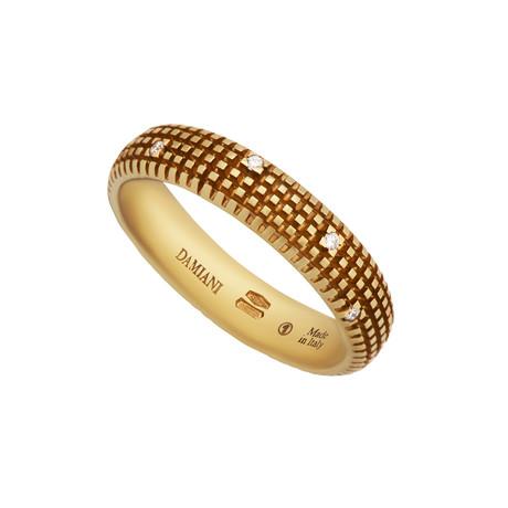 Damiani Metropolitan 18k Yellow Gold Diamond Ring // Ring Size: 9.75