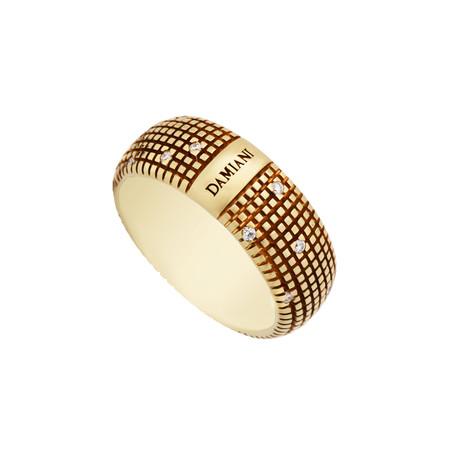 Damiani Metropolitan 18k Yellow Gold Diamond Ring // Ring Size: 7