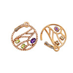 Damiani Battito D'Ali 18k Rose Gold Multi-Stone Earrings