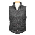 Tiberius Reversible Wool Puffer Vest // Gray (M)
