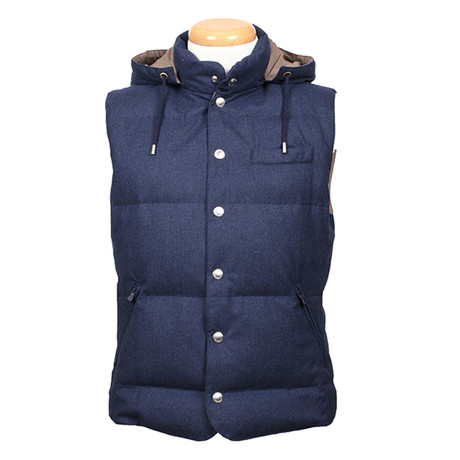 Domitian Wool Puffer Vest // Blue (XS)