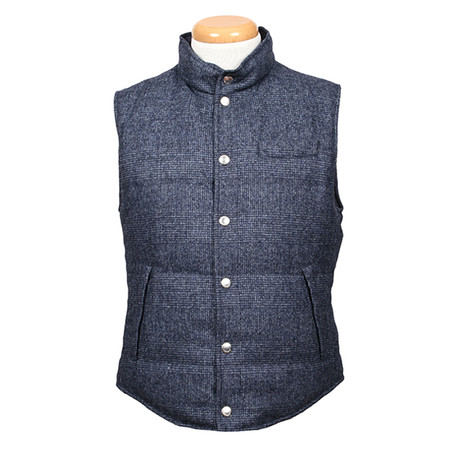 Antonius Reversible Wool Vest // Blue (XS)