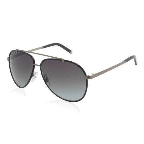 Dsquared2 // Aviator Sunglasses // Black Gunmetal + Gray Gradient