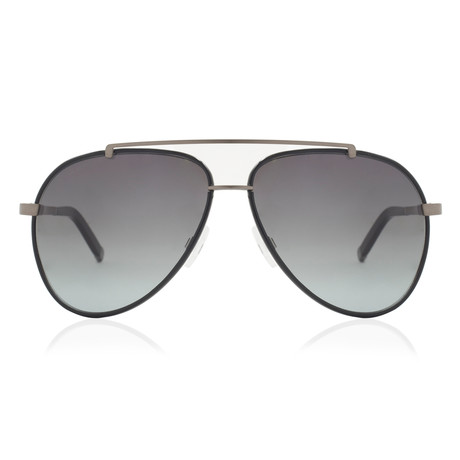 Dsquared2 // Aviator Sunglasses // Black Gunmetal + Grey Gradient
