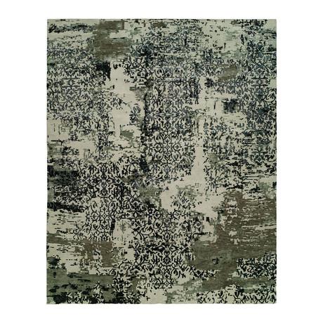 Aura // Abstract Grey + Blue (2' x 3')