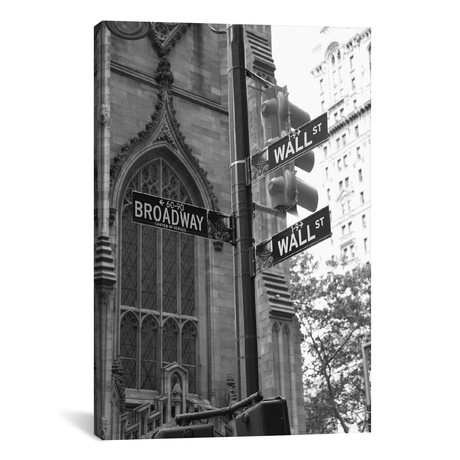 "Wall Street Signs (New York City) // Christopher Bliss (12""W x 18""H x 0.75""D)"