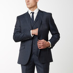 2BSV Notch Lapel Vested Suit Charcoal Windowpane (US: 40S)