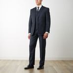 2BSV Notch Lapel Vested Suit Charcoal Windowpane (US: 40R)