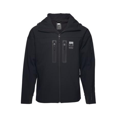 DBHS Stealth Softshell Jacket // Black + Gun Metal Gray (L)