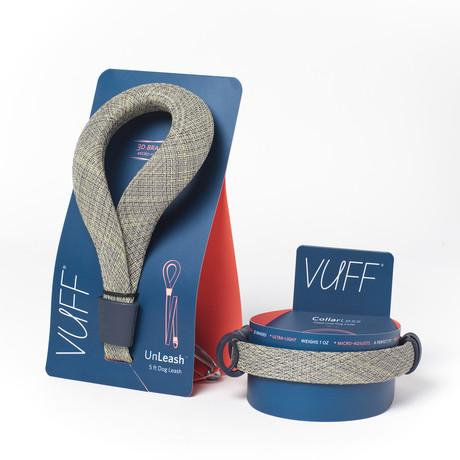 UnLeash 5ft Dog Leash + CollarLess Fixed Loop Dog Collar + Silent ID Dog Tag // Tweed