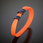 CollarLess Fixed Loop Dog Collar + Silent ID Dog Tag // Orange