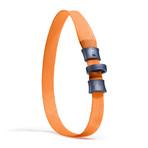 UnLeash 5ft Dog Leash + CollarLess Fixed Loop Dog Collar + Silent ID Dog Tag // Orange
