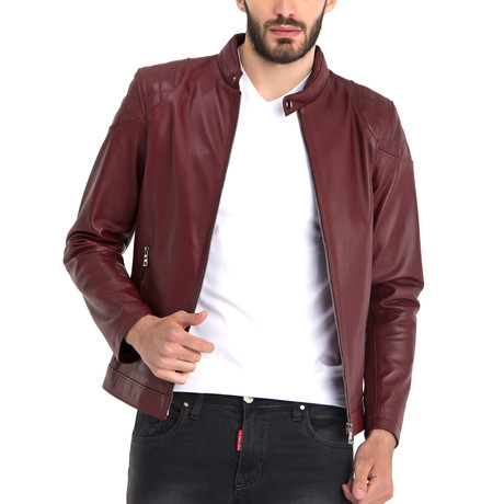 Omer Leather Jacket // Bordeaux (S)