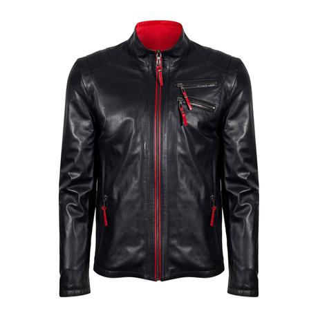 Umut Leather Jacket // Black (S)