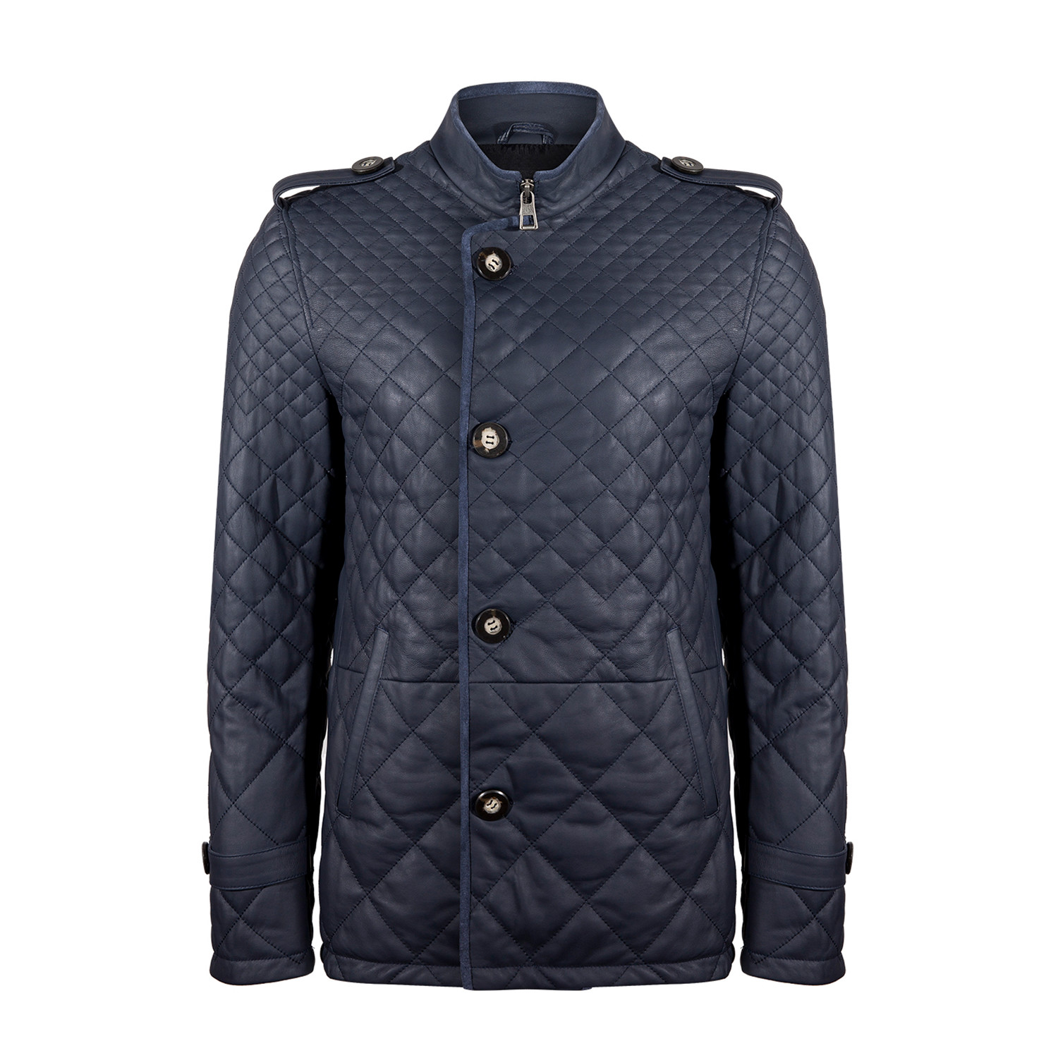 Mert Leather Jacket Navy Blue M Winter Clearance Apparel