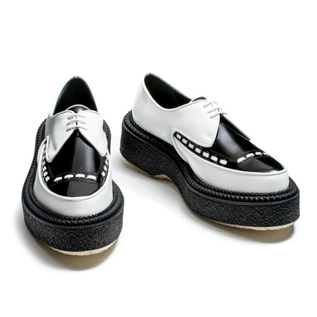 Reyes Pointed Creepers // White + Black (Euro: 40)