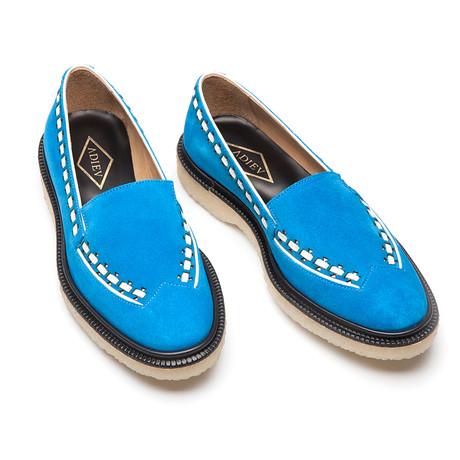 Walker Slipper // Bright Blue + White (Euro: 40)