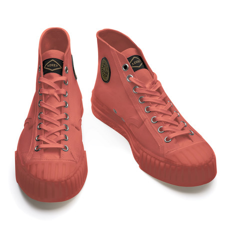 Virgilio High Lace Up Sneakers // Red (Euro: 39)